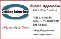 Oppenheim Business Card Image